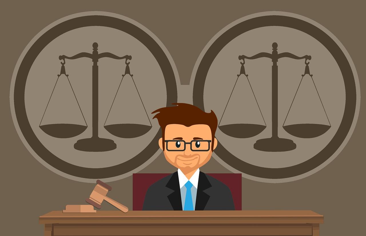 דיין בבית משפט
